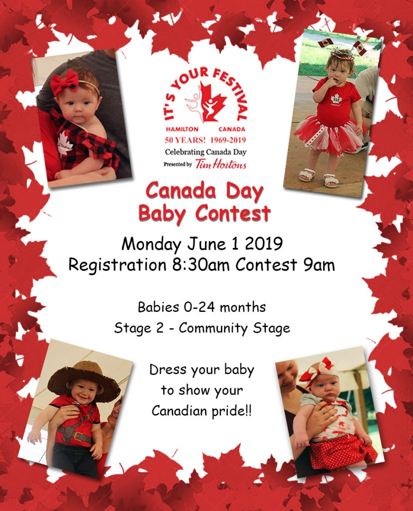 Canada Day Baby Contest – It's Your Festival – 50 Years!